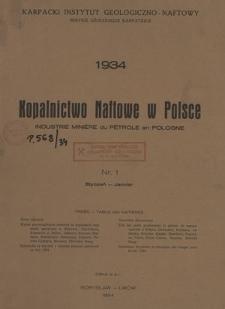 Kopalnictwo Naftowe w Polsce, R. 6, Nr. 1