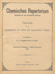 Chemisches Repertorium, Jg. 30, No. 57