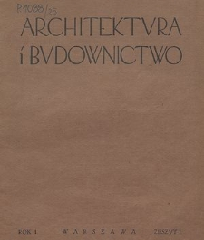 Architektura i Budownictwo : miesięcznik ilustrowany, R. 9, Z. 3