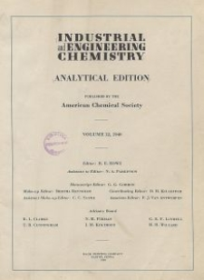 Industrial and Engineering Chemistry : analytical edition, Vol. 15, No. 1