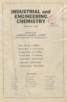 Industrial and Engineering Chemistry : industrial edition, Vol. 35, Index