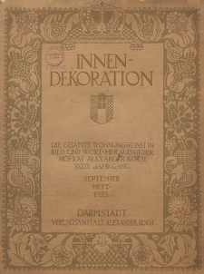 Innen-Dekoration : die Gesamte Wohnungskunst in Bild und Wort, Jg. 29, Januar-Februar