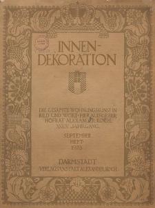 Innen-Dekoration : die Gesamte Wohnungskunst in Bild und Wort, Jg. 34, September