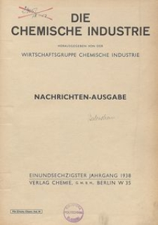 Die Chemische Industrie, 1938, Jg 61, Nr 41
