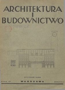 Architektura i Budownictwo : miesięcznik ilustrowany, R. 5, Z. 2-3