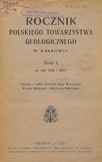 Rocznik Polskiego Towarzystwa Geologicznego, Tom 6 za rok 1929