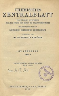 Chemisches Zentralblatt : vollständiges Repertorium für alle Zweige der reinen und angewandten Chemie, Jg. 107, Bd. 1, Nr.23
