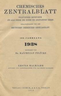 Chemisches Zentralblatt : vollständiges Repertorium für alle Zweige der reinen und angewandten Chemie, Jg. 109, Hb. 1, Autoren-Register