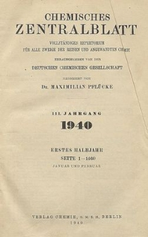 Chemisches Zentralblatt : vollständiges Repertorium für alle Zweige der reinen und angewandten Chemie, Jg. 111, Hb. 2, Nr. 25