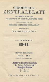 Chemisches Zentralblatt : vollständiges Repertorium für alle Zweige der reinen und angewandten Chemie, Jg. 112, Hb. 2, Nr.13