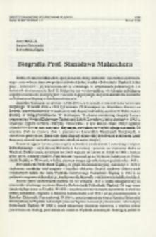Biografia prof. Stanisława Malzachera