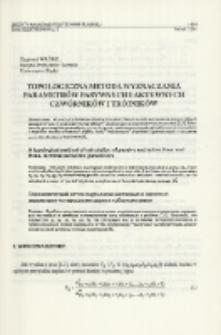 Topologiczna metoda wyznaczania parametrów pasywnych i aktywnych czwórników i trójników