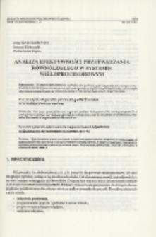 Analiza efektywności przetwarzania równoległego w systemie wieloprocesorowym