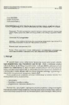 Uniwersalny programator układów PLD