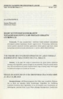 Błędy konwersji radiogramów wielkoformatowych do postaci obrazów cyfrowych