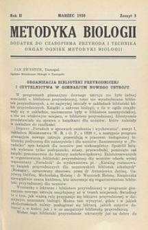 Metodyka Biologii, R. 2, Z. 3