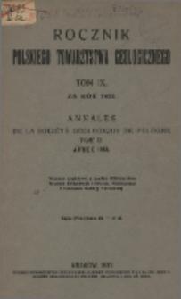 Rocznik Polskiego Towarzystwa Geologicznego, Tom 9 za rok 1933