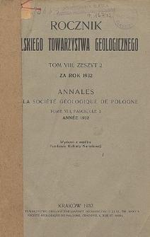 Rocznik Polskiego Towarzystwa Geologicznego, Tom 8, Zeszyt 2 za rok 1932