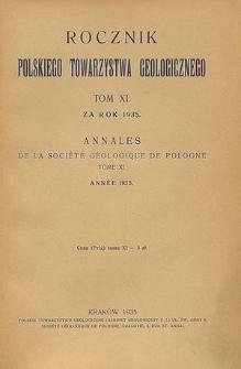 Rocznik Polskiego Towarzystwa Geologicznego, Tom 11 za rok 1935