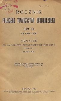 Rocznik Polskiego Towarzystwa Geologicznego, Tom 12 za rok 1936