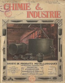 Chimie et Industrie. Vol 11. Nr 2