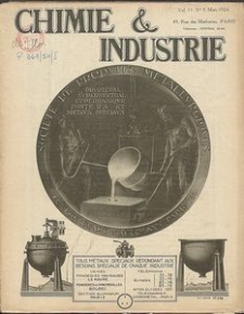 Chimie et Industrie. Vol 11. Nr 3