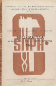 Konferencja Naukowo-Techniczna : Informatyka w przemyśle metali nieżelaznych w PRL, Katowice - Wisła, 23-25 listopad 1979 rok