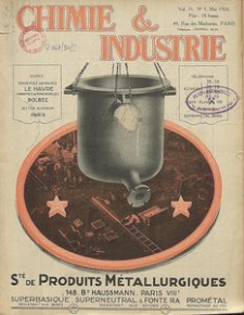 Chimie et Industrie. Vol 11. Nr 5