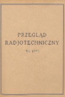 Przegląd Radjotechniczny, R. 8, Spis rzeczy