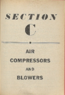 Audels pumps, hydraulics, air compressors. Section C, Air compressors and blowers