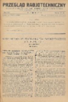 Przegląd Radjotechniczny, R. 8, Z. 21-22