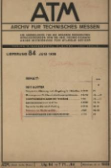 ATM. Archiv für Technisches Messen, Lfg. 84 (Juni)