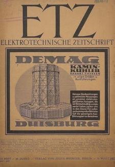 Elektrotechnische Zeitschrift, Jg. 53, Heft 10