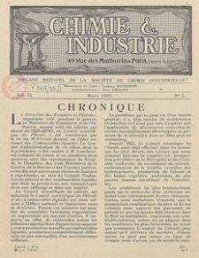 Chimie et Industrie. Vol. 13. Nr 3