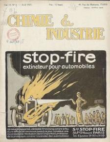 Chimie et Industrie. Vol. 13. Nr 4