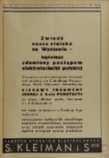 Wiadomości Elektrotechniczne, R. 4, Zeszyt 9