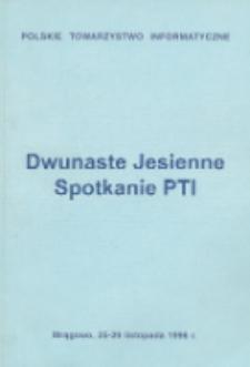 Dwunaste Jesienne Spotkanie PTI, Mrągowo, 25-29 listopada 1996 r.