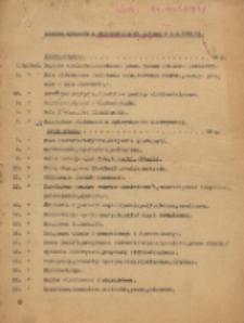 Program wykładów z Elektrotechniki Ogólnej w r. n. 1940/1941
