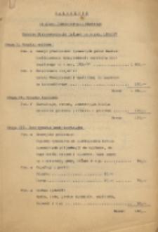 Plan finansowo-gospodarczy Katedry Elektrotechniki Ogólnej na r. szk. 1936/1937 : załącznik