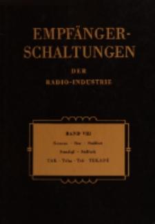 Empfänger-Schaltungen der Radio-Industrie, Bd. 8