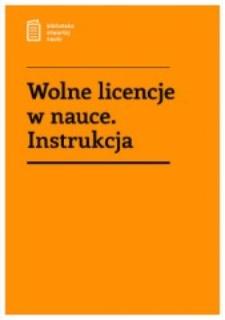 Wolne licencje w nauce : instrukcja