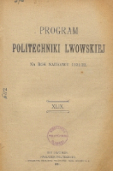 Program Politechniki Lwowskiej na rok naukowy 1921/22