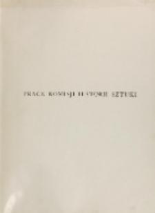 Prace Komisji Historii Sztuki, T. 7, z. 1-2