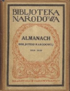 Almanach Bibljoteki Narodowej : w dziesięciolecie wydawnictwa, 1919-1929