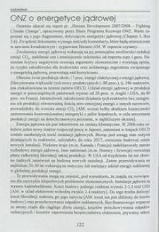 ONZ o energetyce jądrowej