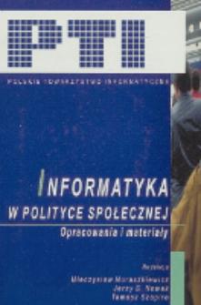 Informatyka w polityce społecznej : opracowania i materiały