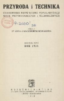 Przyroda i Technika, R. 17, Spis rzeczy