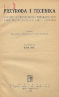 Przyroda i Technika, R. 14, Spis rzeczy