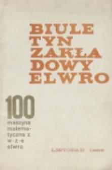 Biuletyn zakładowy : 100 maszyna matematyczna z WZE Elwro
