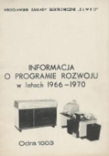 Informacja o programie rozwoju w latach 1966-1970